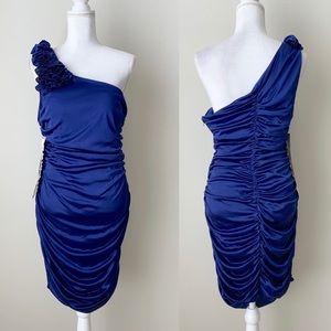 NWT B Smart one shoulder mini dress